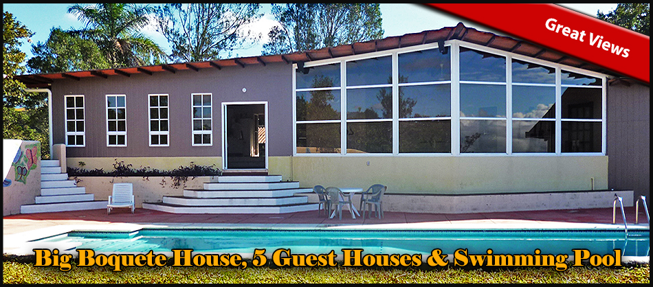Big Boquete House or Hotel, 5 Guest Houses, Swimming Pool ...