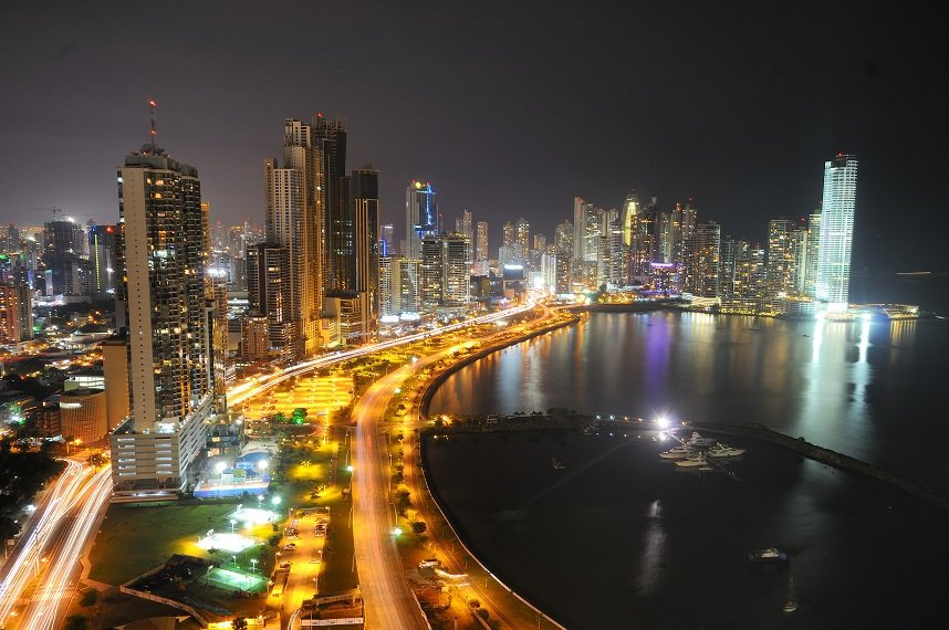 panama city panama at night large