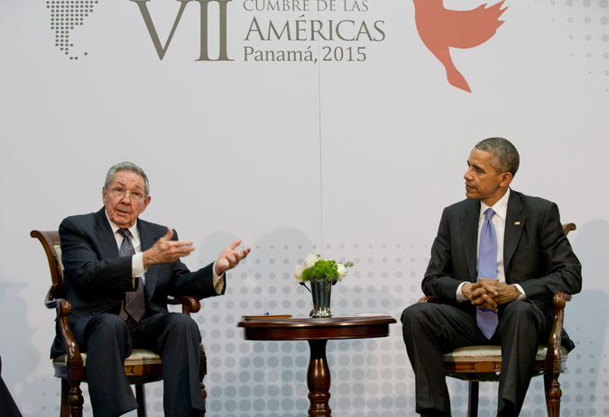 castro and obama in panama