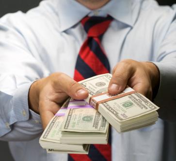money-handing