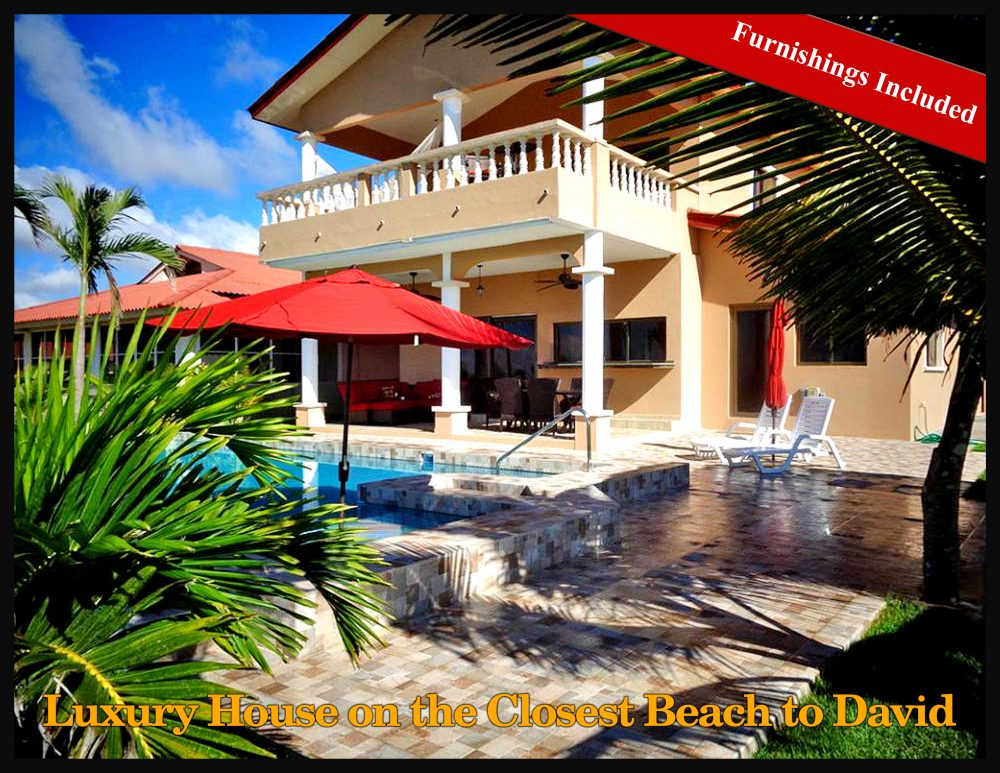 Luxury House For Sale On The Closest Beach To David And Boquete    Furnishings Included   Great Price!   Casa De Lujo En Venta En La Playa Más  Cercana A ...