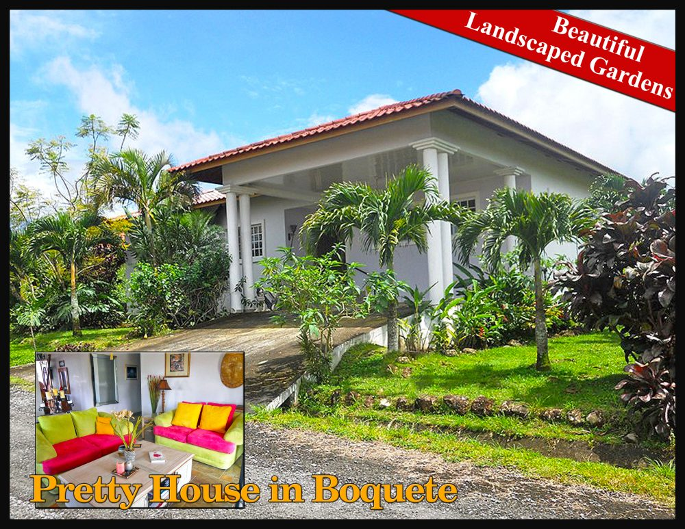 Pretty House With Beautiful Landscaped Gardens In The Brisas Boquetenas  Neighborhood, Boquete, Panama