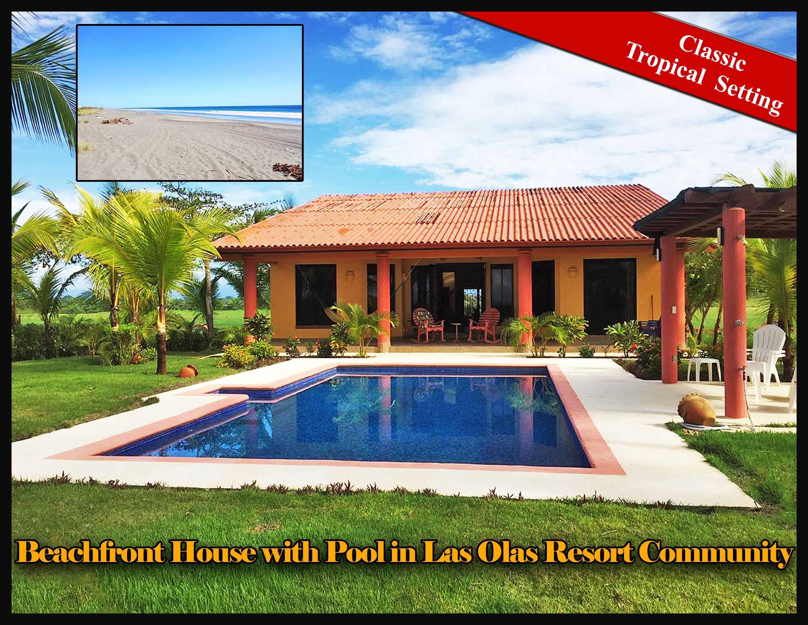 Truly Living On The Beach Beachfront House With New Pool For In Las Olas Resort Community Panama Furnished Verdaderamente Vivir En La Playa