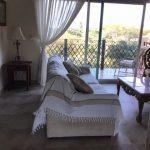 sitting area opening to balcony